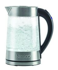Nesco GWK-02 Electric Glass Water Kettle, 1.8-Quart, Gray