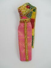 Handcrafted Vintage Thai Style Traditional Barbie Dress Outfit Costume N50-16