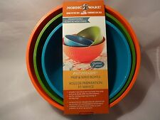 Nordic Ware Microwave Prep Serve Bowls Set of 3 Mixing Heating Serving Food DD-5