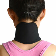 New Self Heating Tourmaline Magnetic Neck Heat Therapy Support Belt Wrap Brace