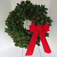 FRESH HOLLY WREATH CHRISTMAS HOLIDAY