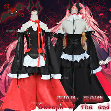Anime Seraph of the end Krul Tepes Cosplay Lolita Gothic Vampire Clothing Dress