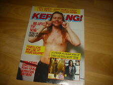 KERRANG Classic Metal mag inc David Lee ROTH & Geoff TATE pull out 11/3/89  #229