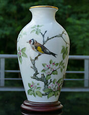 "Franklin Mint jarrón de porcelana ""The Woodland Bird"" 1981 firmada!!!"
