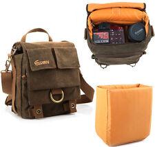 Vintage Waterproof Canvas DSLR SLR Camera Shoulder Bag Messenger Bag Rucksack EM