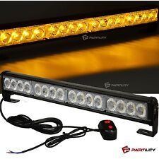 "18"" LED Amber Light Emergency Warning Strobe Flashing Yellow Bar Hazard Security"