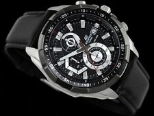 IMPORTED Casio Edifice Imported EFR-539L Black Leather strap