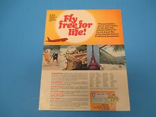 1969 American Express, Fly Free For Life Sweepstakes, Print Ad, PA011