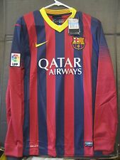 NWT Nike Authentic 2014 Barcelona Long Sleeve Home Jersey XL