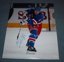 New York Rangers Michael Del Zotto Signed Autographed 16x20 Photo JSA A