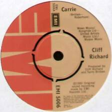 "CLIFF RICHARD ~ CARRIE / MOVING IN ~ 1980 UK 7"" SINGLE ~ EMI 5006"