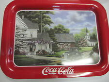 "Coca Cola Rectangle Tray ""Peaceful Moments"" - New - Replica"