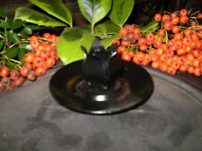 2 DANISH BLACK ADVENT / CHRISTMAS DINNER CANDLE HOLDER KEEPS YOUR CANDLES SECURE