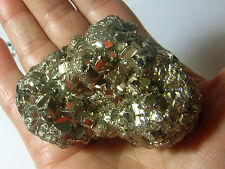 NATURAL PYRITE FOOLS GOLD CRYSTAL SPARKLY DRUZY & LARGE CUBES 209g 70mm st66