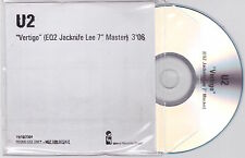 "U2 - Vertigo - Rare UK 1trk promo EQ2 Jacknife Lee 7"" Master CD"