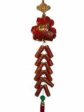Feng Shui Chinese New Year Charm - Money Bag with Lucky Firecracker