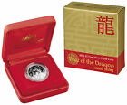 2012 Lunar Year of the Dragon $1 Silver Proof Coin, Royal Australia Mint