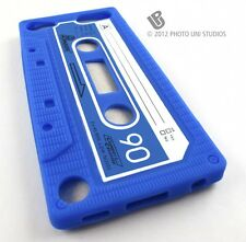 BLUE FUN CASSETTE TAPE SILICONE RUBBER SKIN CASE COVER APPLE IPOD TOUCH 5 5