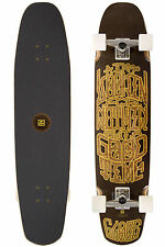 "GLOBE TRUCKER 36"" Longboard - BLACK/GOLD CRUISER - Skateboard - WHEELS 62mm-78A"