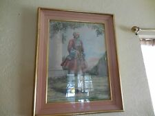 Vintage Watercolor Painting of Victorian Man  Signed Esther Wynn