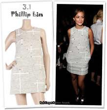 3.1 Phillip Lim Diamante embroidered shift dress 4 uk 8