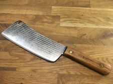 A+ RAZOR SHARP vintage CARBON STEEL Old Hickory Meat Cleaver USA butcher knife