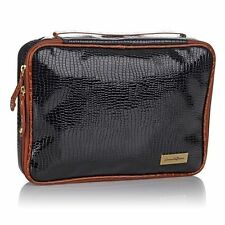 Samantha Brown First Class Collection Mini Croc-Embossed Accessory Kit Black