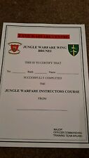 Jungle warfare military  certificate