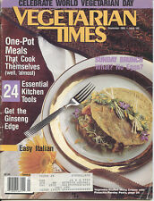 VEGETARIAN TIMES Sep 1989 # 145 Hearty Stew Chili Bean more Recipes