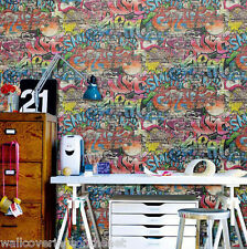 **NEW**  Childrens / Teenagers Graffiti Wallpaper, Printed on a Textured Paper