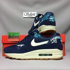 Nike Air Max 1 Print UK6 528898-401 EUR40 US8.5 Blue Floral 95 90 light liberty