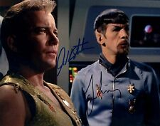William Shatner & Leonard Nimoy Signed 8x10 Photo With COA - PSA/JSA Guarantee