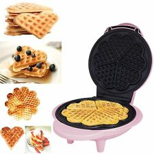 Electric Belgian Waffle Maker Iron Non Stick Stainless Machine New Free Postage