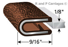 "1/8"" Brown Edge Trim Lok Camper Trailer RV Seal Lock Boat Vinyl"