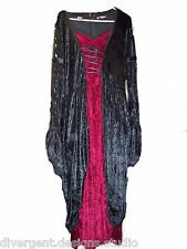 Begotten by Dilek Atasu Faux Corset Red & Black Gothic Dress Size Large Clubwear