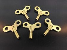 Set of 5 Solid Brass Clock Keys #7 or 3.8 mm.