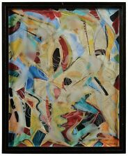 LARGE ORIGINAL ABSTRACT FIGURATIVE GEORGE HANDY PAINTING