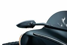 Kuryakyn Black Windshield Fairing Mounted Scythe Mirrors Harley Batwing Bagger