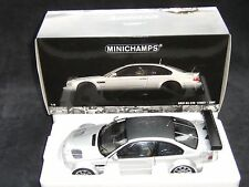 MINICHAMPS 1/18 - BMW M3 GTR E46 STREET 2001 - silver / carbon neu / OVP selten