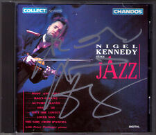 Nigel KENNEDY Signed PLAYS JAZZ Body & Soul Lover Man Bag's Groove Atzmn Leaves