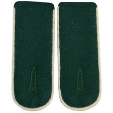 GERMAN GREEN (WHITE PIPE) SHOULDER BOARDS - WW2 REPRO