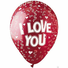 "10 pc - 11"" Red I Love You Latex Balloon Party Decoration Decorator Wedding"