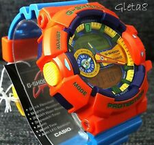 G Shock Original Watch Blue Orange Authentic Analog Digital Gshock Wristwatch