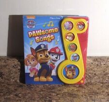 Nickelodeon Paw Patrol Play a Song Board Book Pawsome Songs NEW
