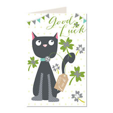 Good Luck Black Cat Design Truly Scrumptious Greeting Card TS25