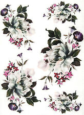 Ricepaper/Decoupage paper,Scrapbooking Sheets /Craft Paper White Roses