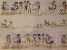 "Voyage Fabric Linen/Cotton ""Come By"" Remnant 66cm Wide x53cm Long (sheep 68)"