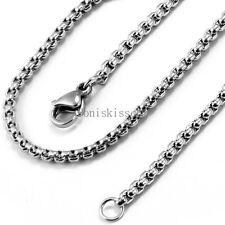 2mm Silver Stainless Steel Cable Chain Necklace 22 Inch w Lobster Claw Clasp