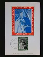 VATICAN MK 1966 PAPST PAUL VI POPE PAPA PAPIEZ CARTE MAXIMUM CARD MC c6336