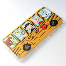for iPhone 6 / 6S - YELLOW SNOOPY SCHOOL BUS Hard TPU Rubber Gummy Case Cover